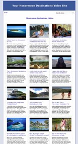 Honeymoon Destination Video Site Builder Software