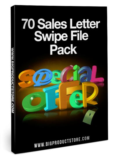 70 Sales Letter Swipe File Pack