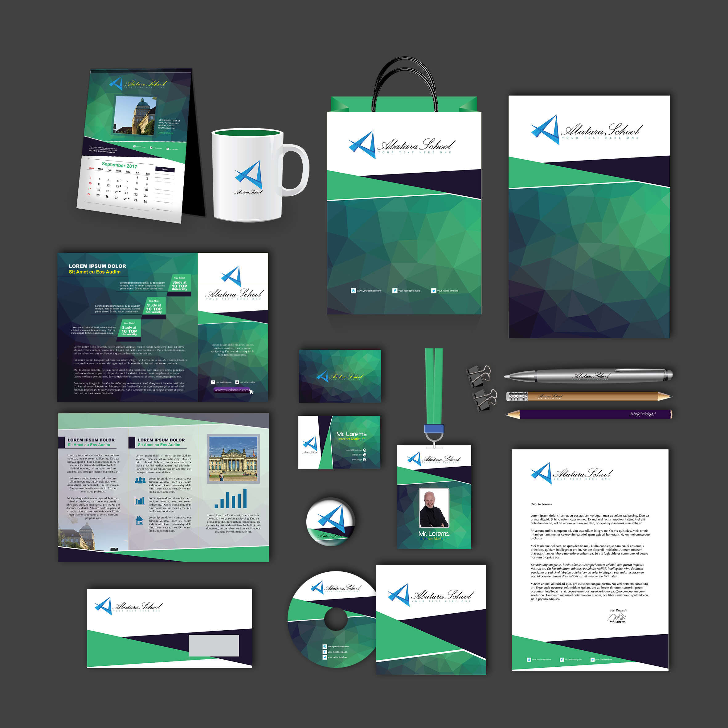 Abatara Print Design Template Pack