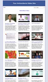 Antioxidants Video Site Builder Software