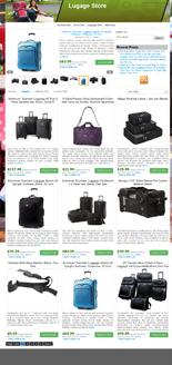 Azon Luggage Store Niche Blog