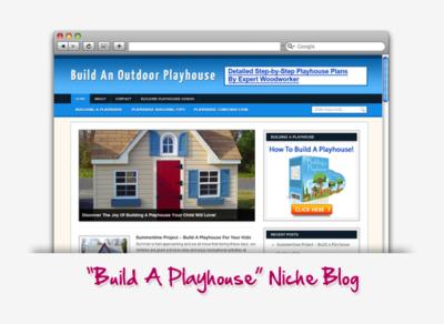 Build An Outdoor Playhouse Niche Blog