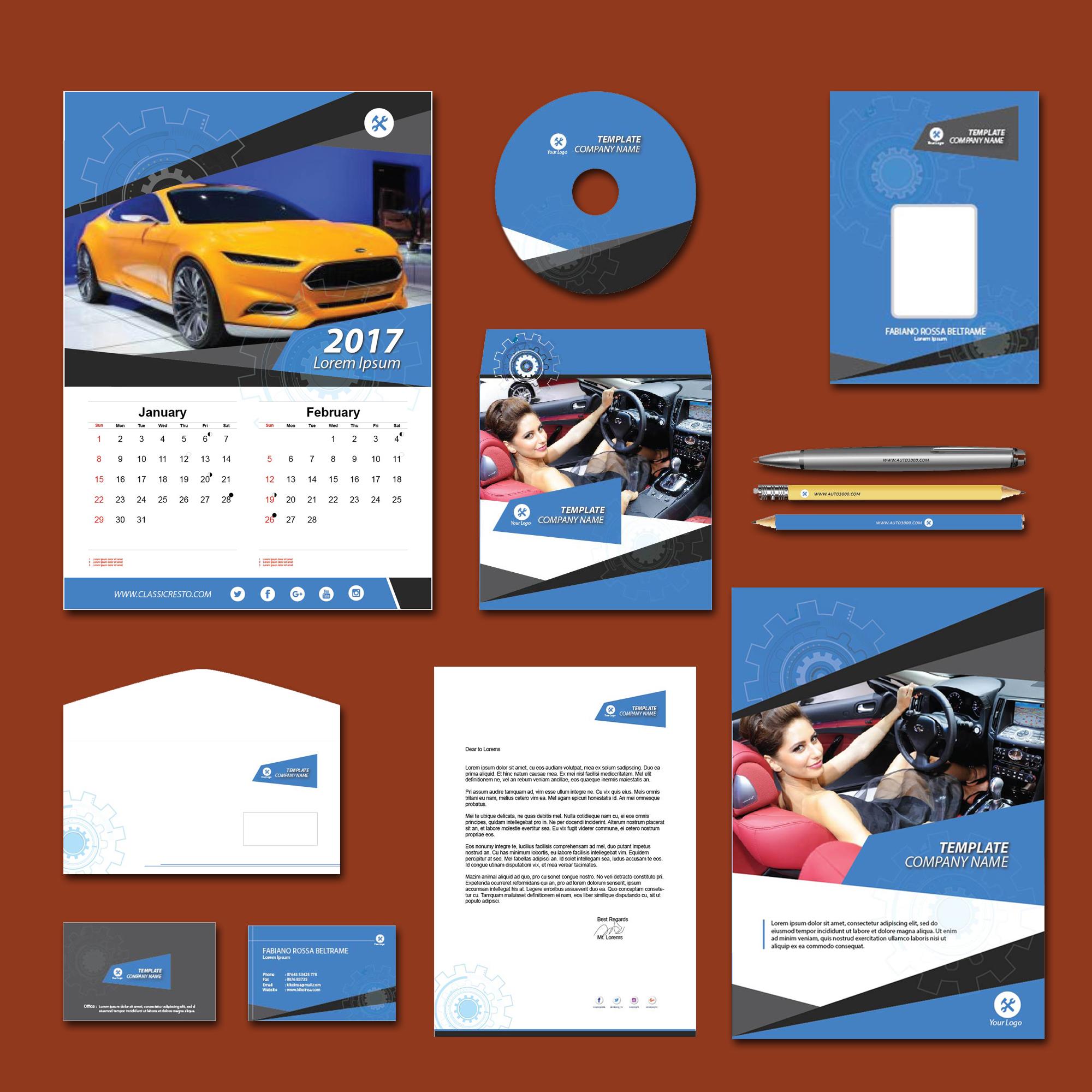 Carian Blue Print Design Template Pack