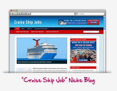 Cruise Ship Job Niche Blog
