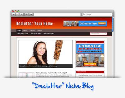 Declutter Home Niche Blog