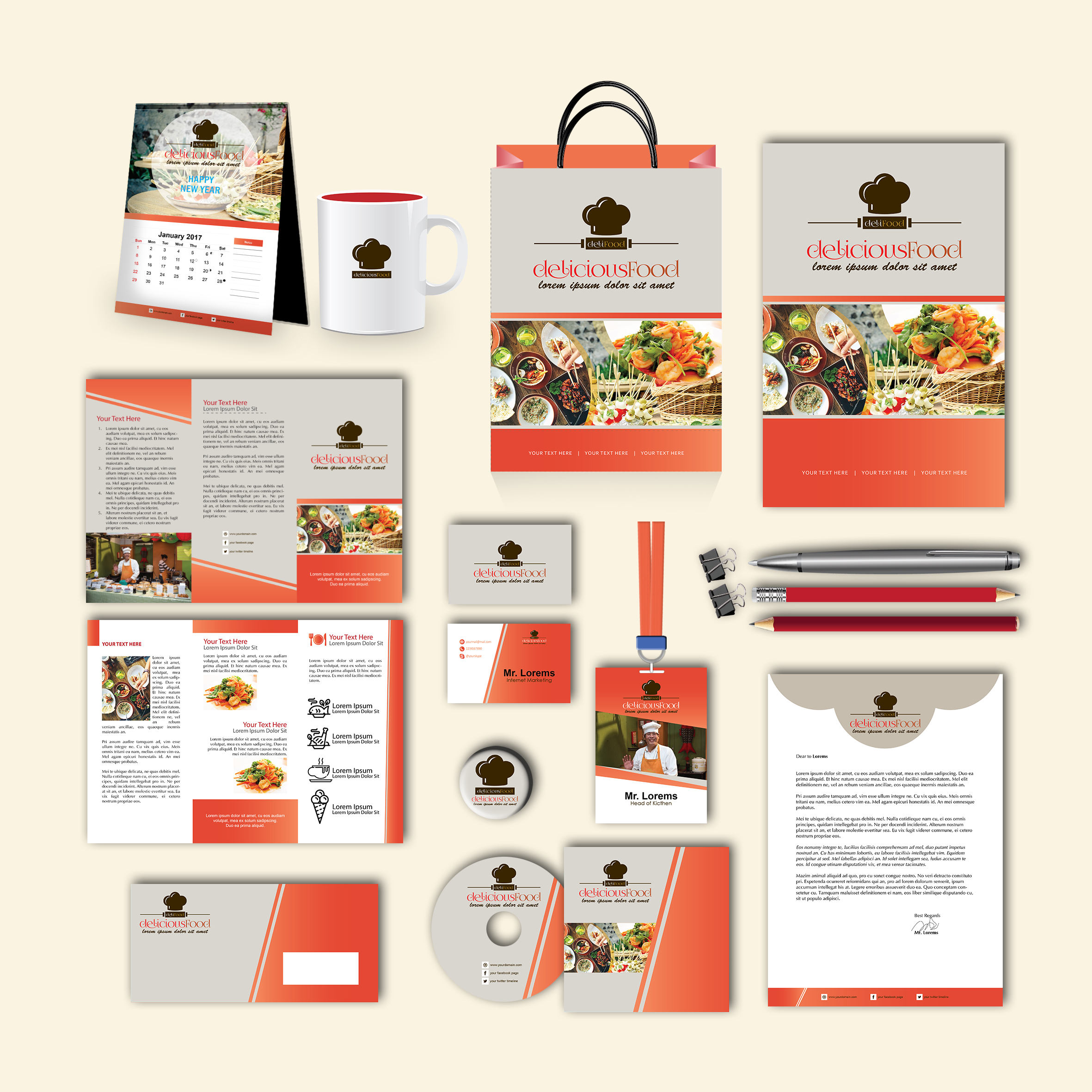 Delicious Print Design Template Pack