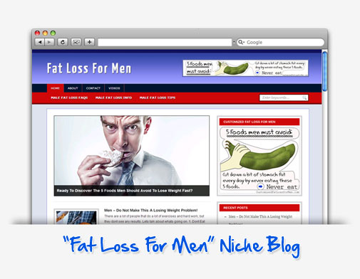 Fat Loss For Men Niche Blog
