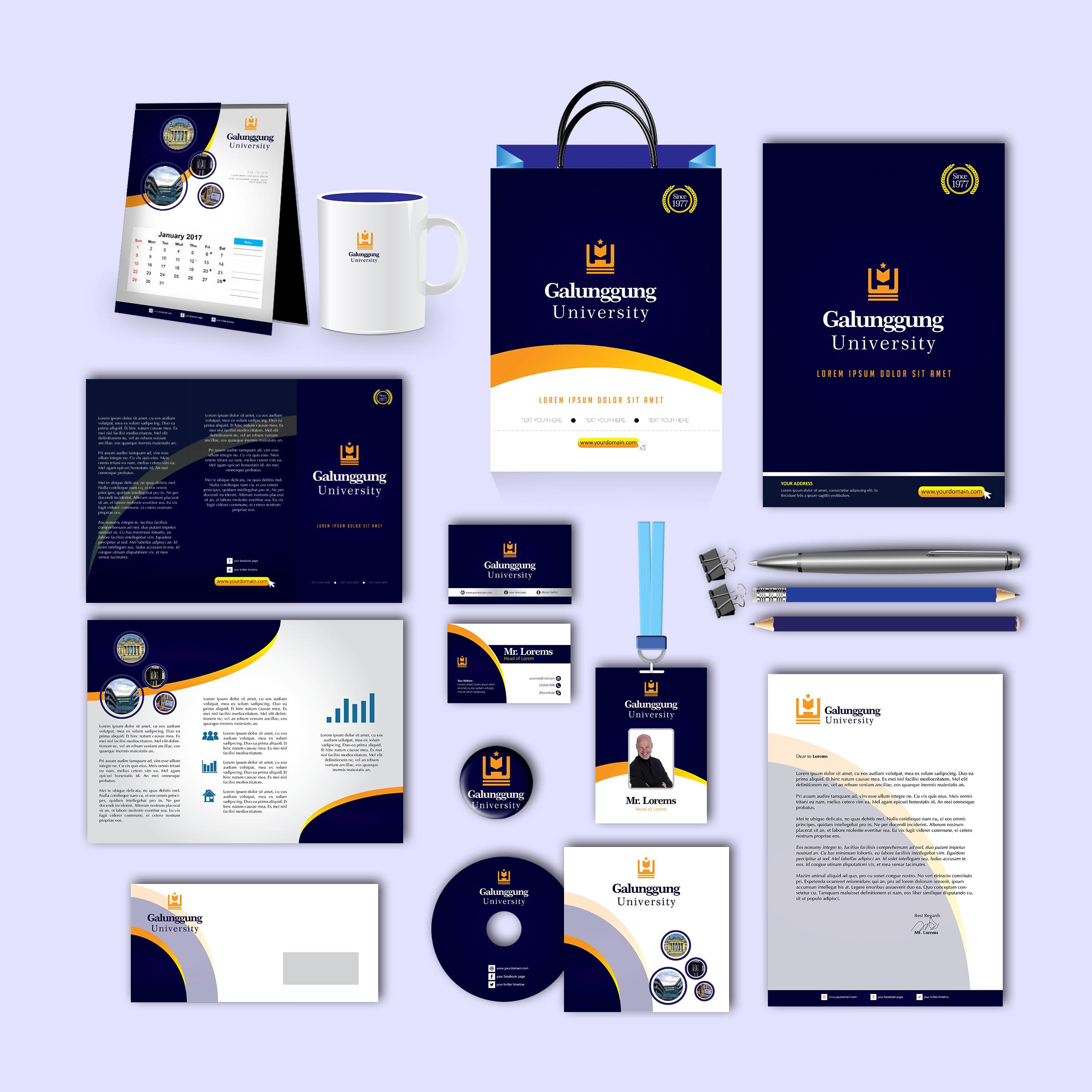 Galunggung Print Design Template Pack