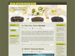 WP Theme - Green Tea WP Theme