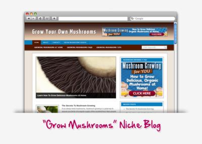 Grow Your Own Mushroom Niche Blog
