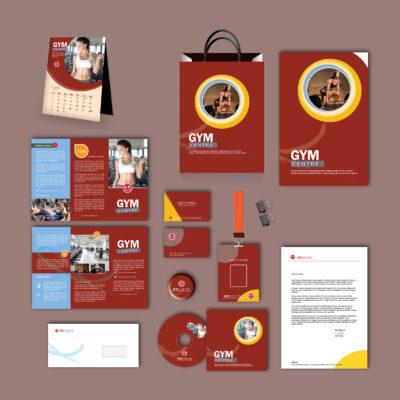 Gym Print Design Template Pack
