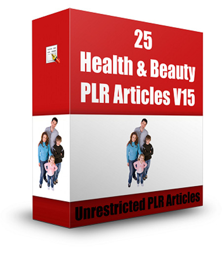 25 Health & Beauty PLR Articles V 15
