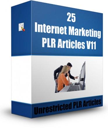 25 Internet Marketing PLR Articles V 11