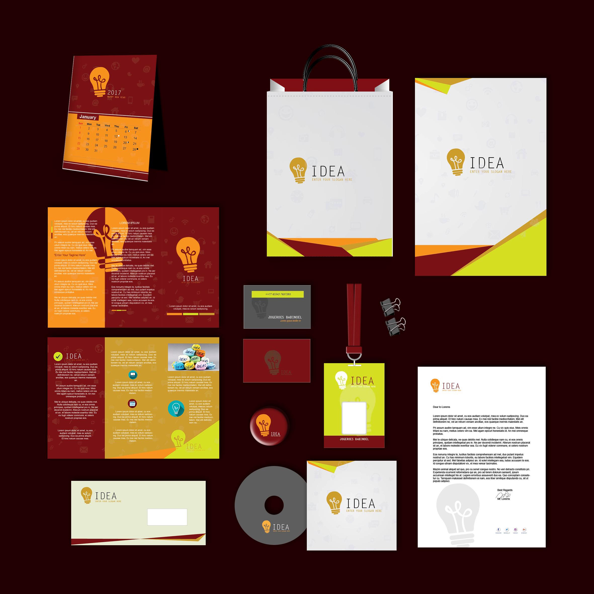Idea Print Design Template Pack