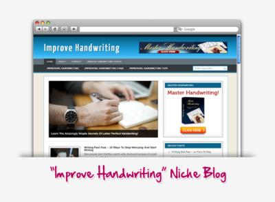 Improve Your Handwriting Niche Blog