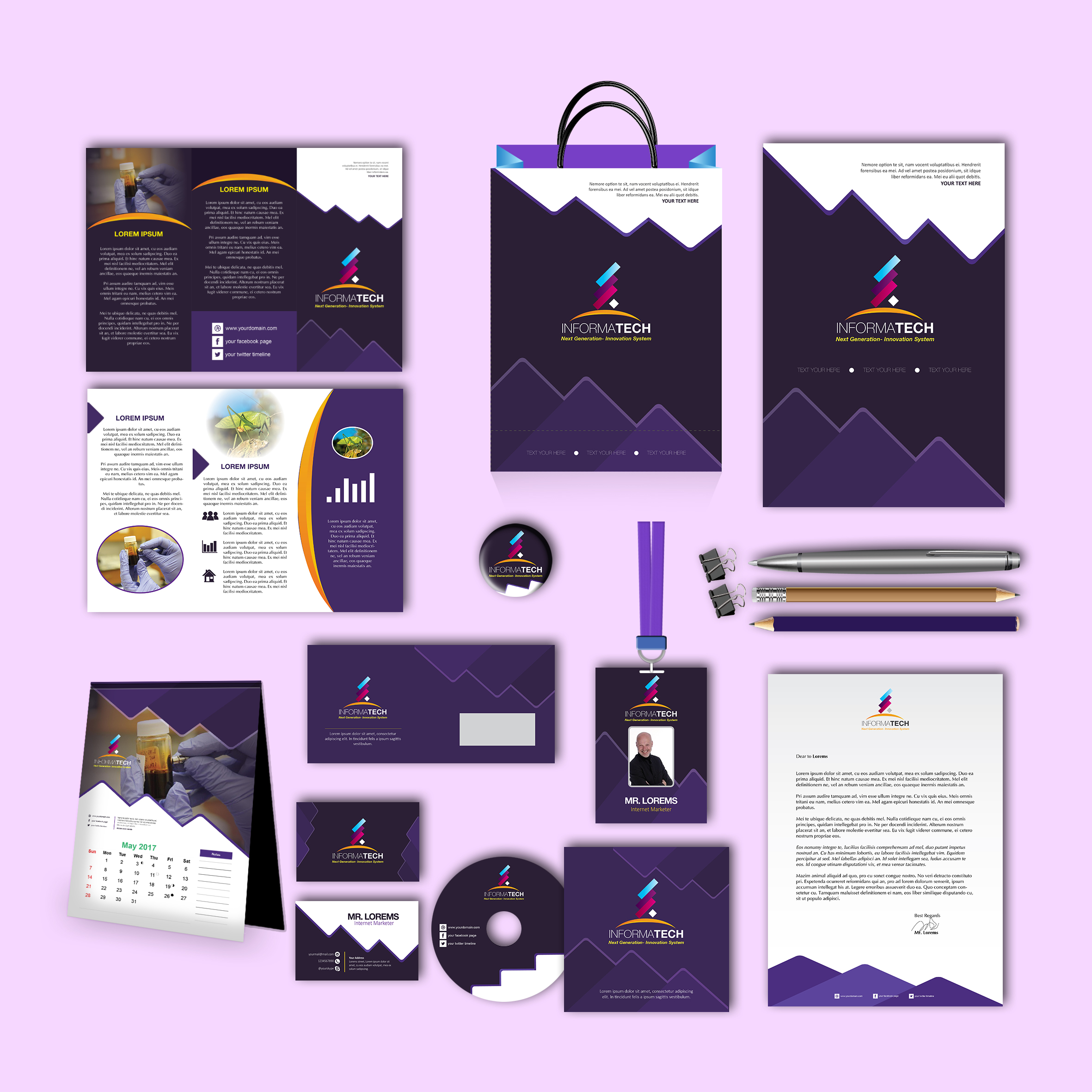 Informa Tech Print Design Template Pack