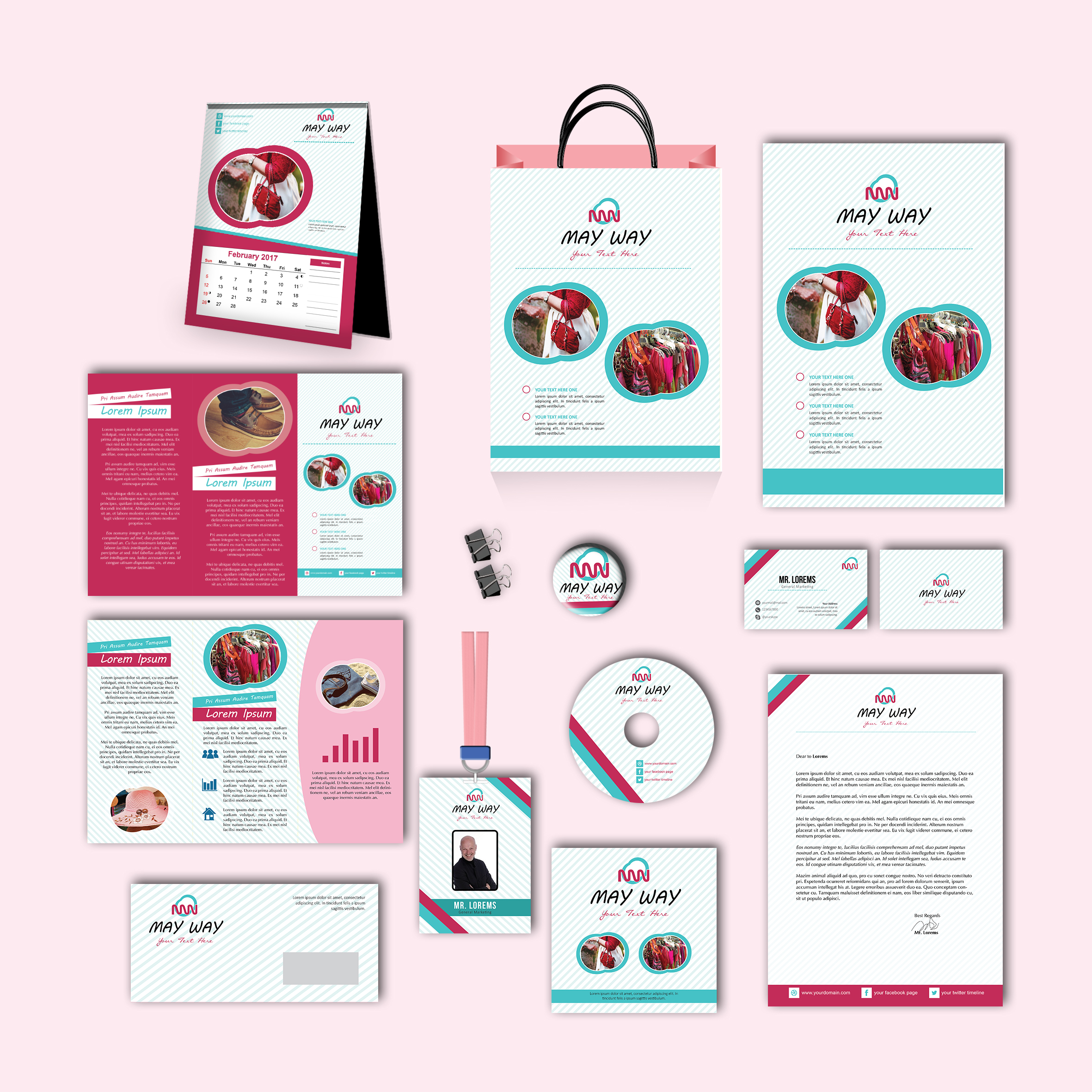 May Way Print Design Template Pack