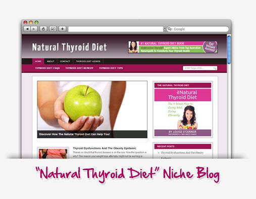 Natural Thyroid Diet Niche Blog