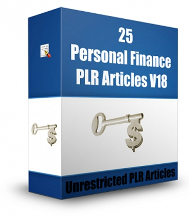 25 Personal Finance PLR Articles V 18