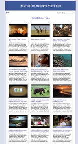 Safari Holidays Video Site Builder Software