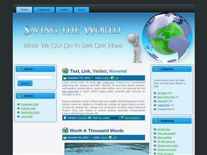 WP Theme - Save The World Theme