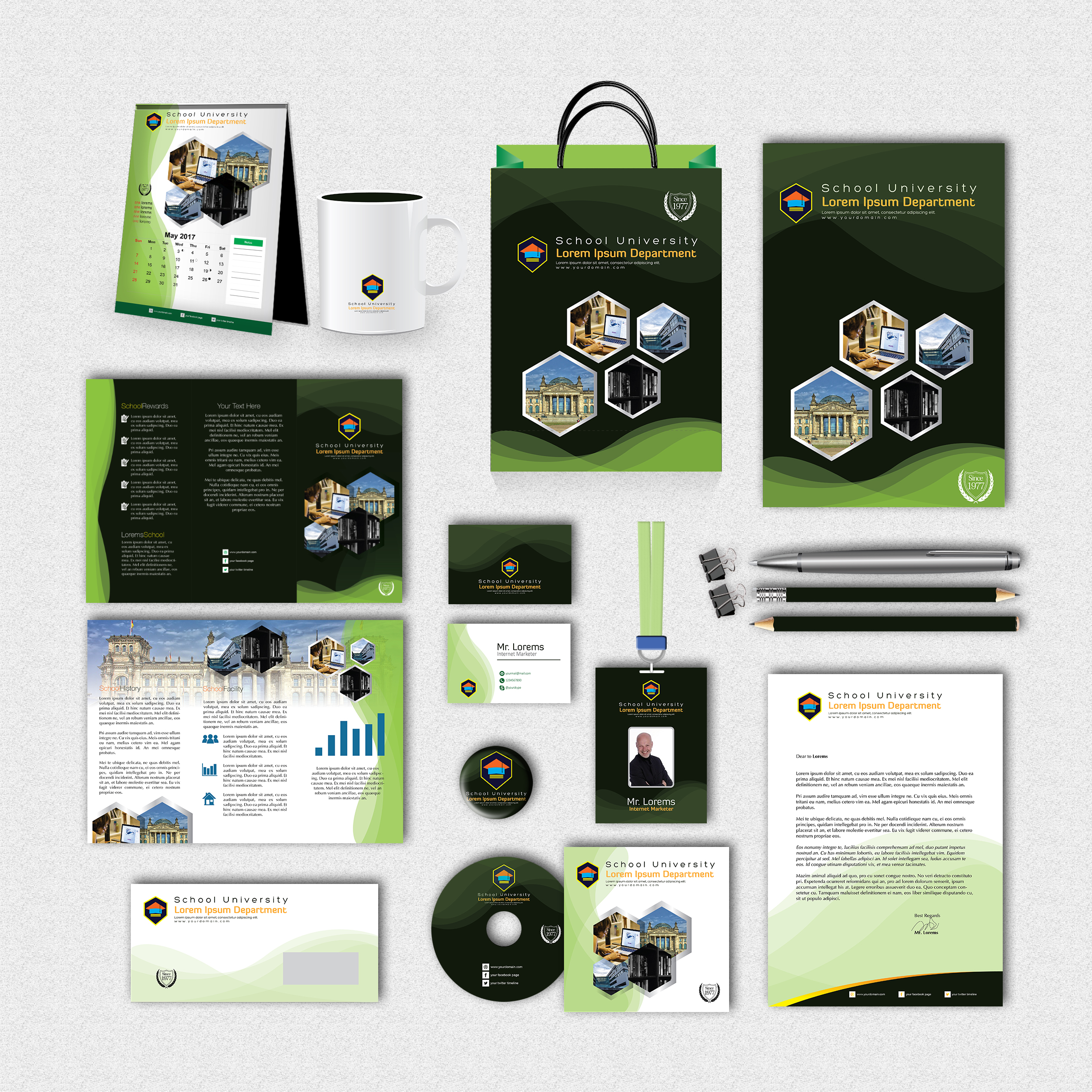 School Print Design Template Pack