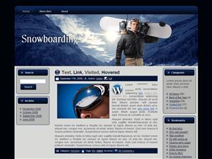 Snow Boarding WP Theme 4532