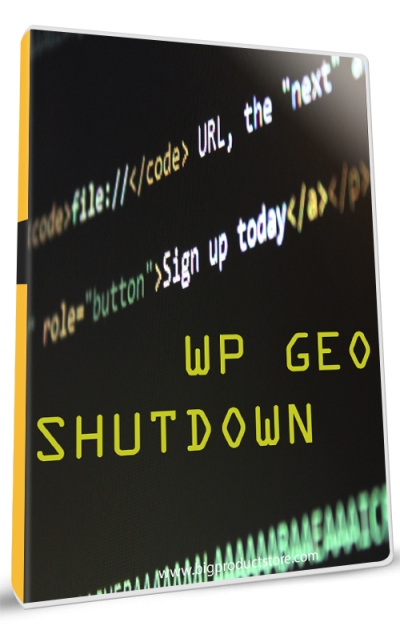 WP GEO Shutdown Plugin