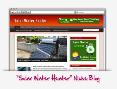 Solar Water Heater Niche Blog