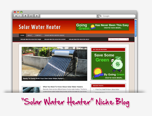 Solar Water Heater Niche Blog