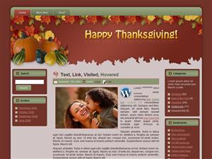 WP Theme - Thanksgiving Fall