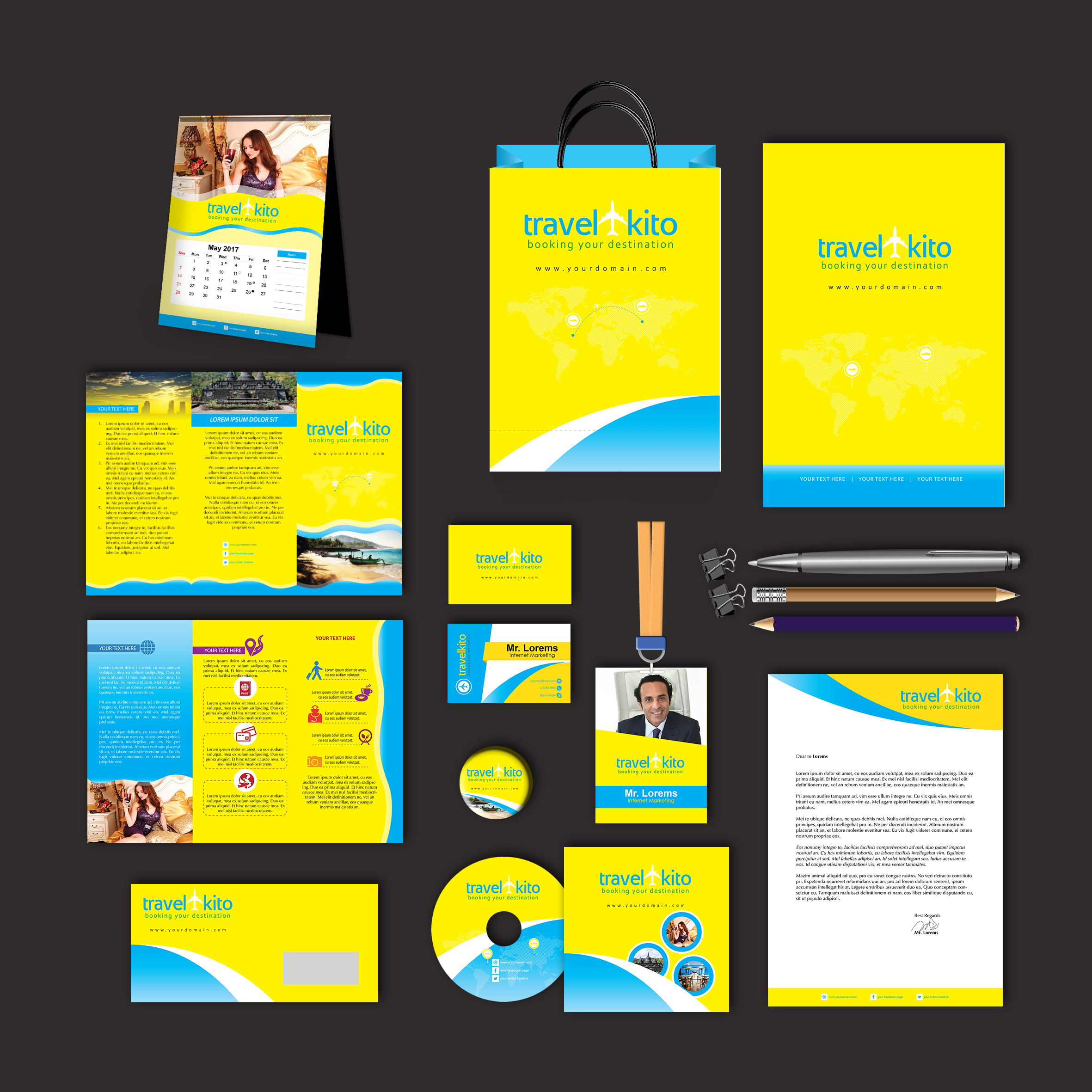 Travel Kito Print Design Template Pack