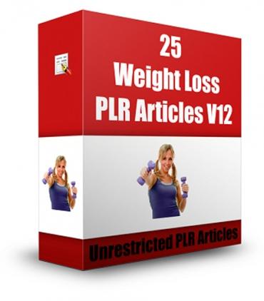 25 Weight Loss PLR Articles V 12