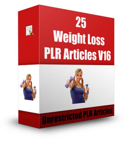 25 Weight Loss PLR Articles V 16