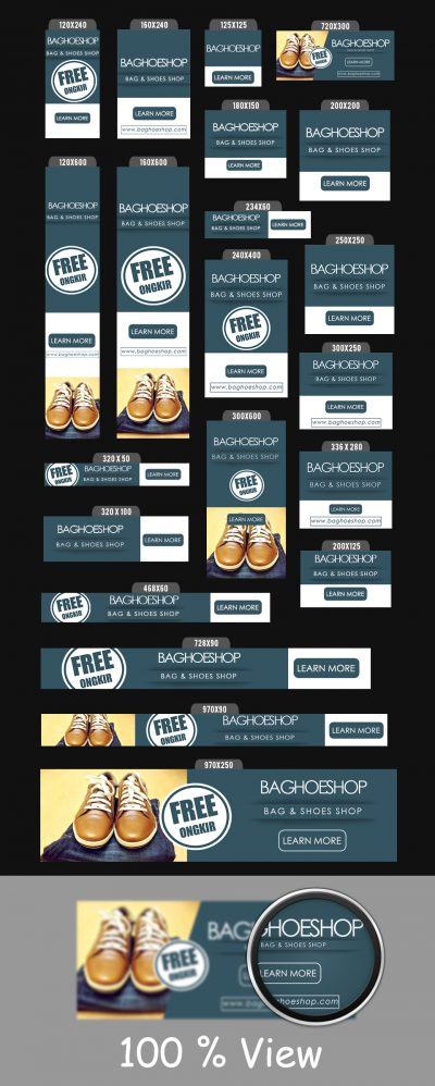 Bag & Shoes Shop Banner Ads Templates.