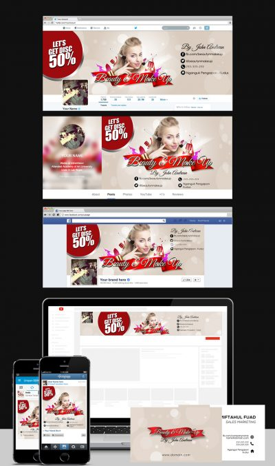 Beauty Social Media Templates.