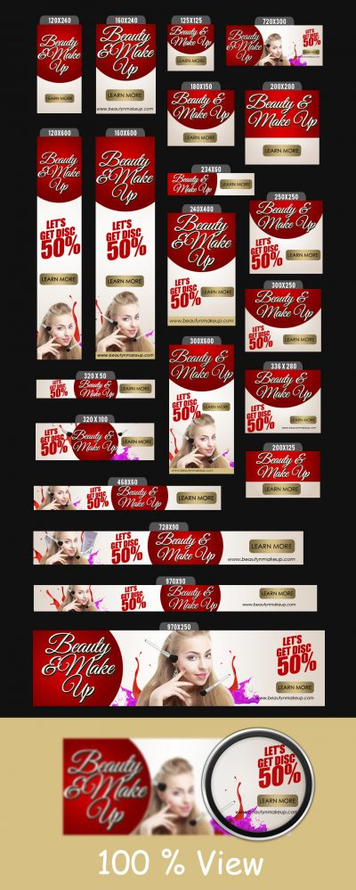 Beauty Banner Ads Templates