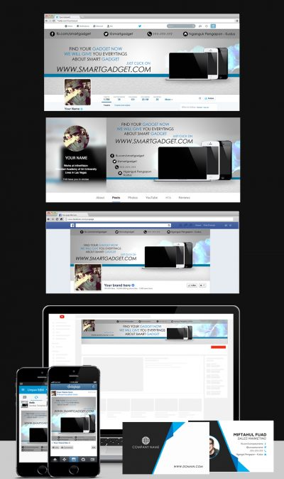 Gadget Social Templates Set