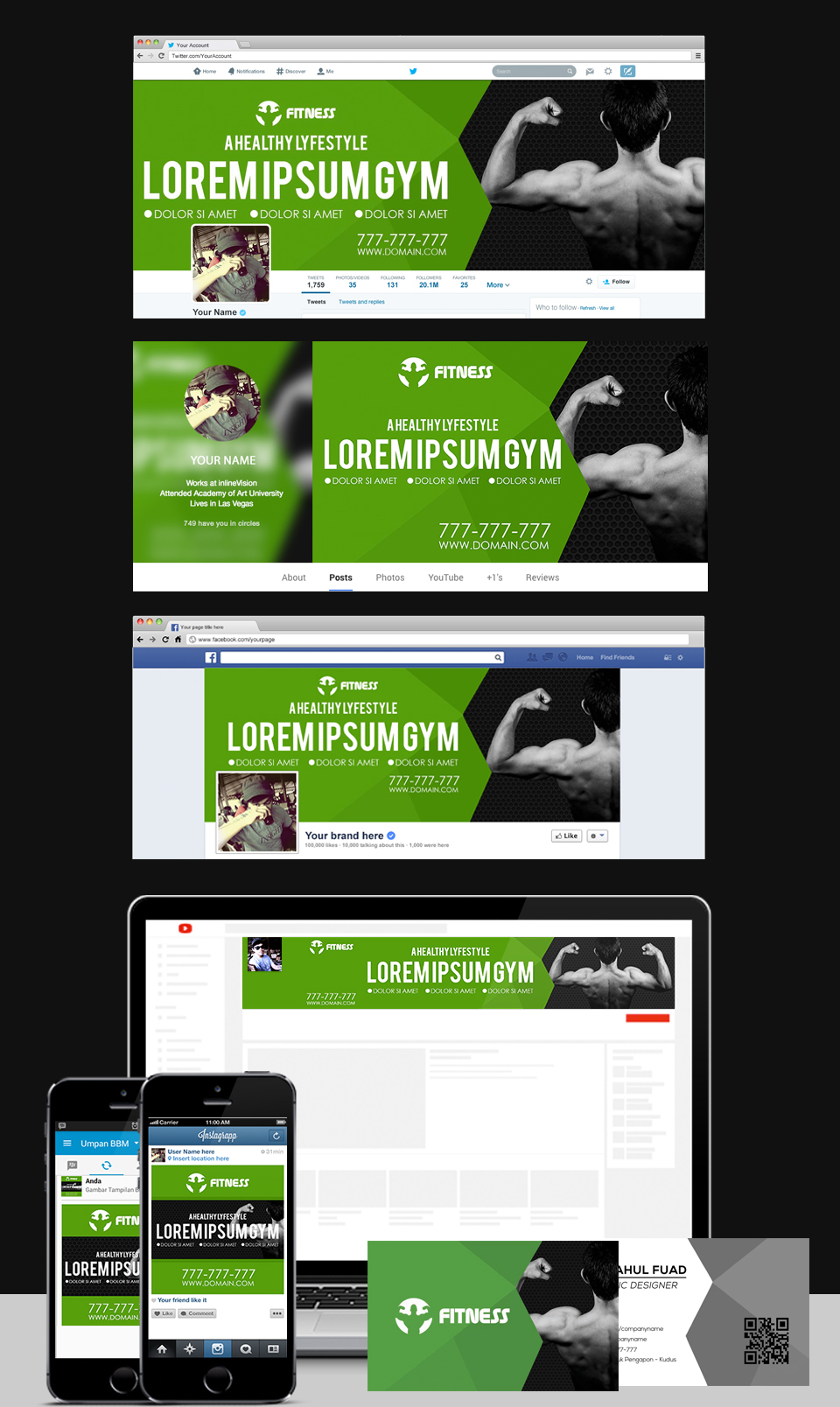 Gym Center Social Templates