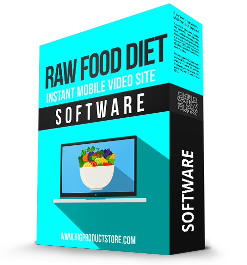 Raw Food Diet Instant Mobile Video Site Software
