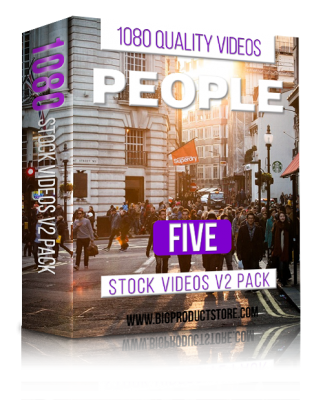 PeopleFive1080StockVideosV2Pack