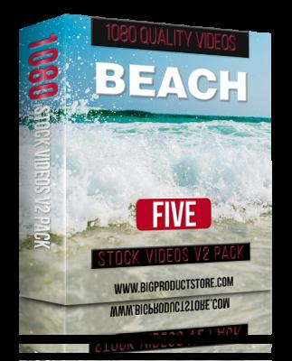 BeachFive1080StockVideosV2Pack