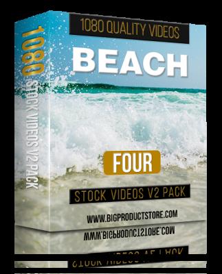 BeachFour1080StockVideosV2Pack