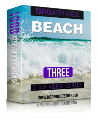 BeachThree1080StockVideosV2Pack