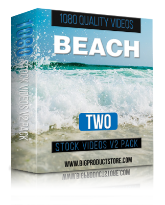BeachTwo1080StockVideosV2Pack